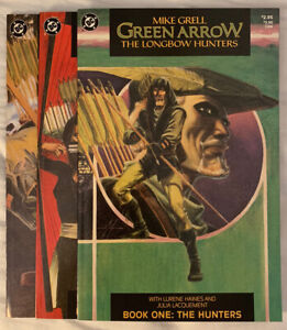 Mike Grell Green Arrow The Longbow Hunters Book 1 - 3 of 3 DC Comics 1987