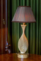 "Handmade table lamp «Classical Spiral"", antique style, a carved rare wood"