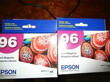 LOT OF 2 NEW Genuine Epson 96 T0963 MAGENTA R2880 printer ink T096320