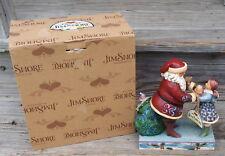 Jim Shore JUST FOR YOU figurine Santa Handing Little Girl Doll