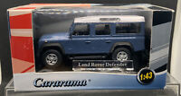 "CARARAMA 1:43 - LAND ROVER DEFENDER ""BLUE & WHITE"" - 230D MINT IN BOX (Loclee4)"