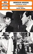 FICHE CINEMA : MONSIEUR ARKADIN - Welles,Redgrave,Medina1955 Confidential Report