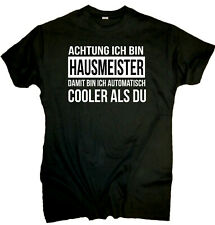 Fun T-Shirt Herren Hausmeister *cooler als du* Beruf lustig Spruch Spass Arbeit