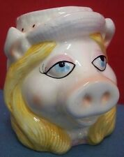 "Vintage Miss Piggy Mug Cup Jim Henson Muppets Made in Korea 4"" Tall Ceramic"