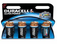 Duracell MX1400 LR14 MN1400 Ultra Power 1.5v C Size Alkaline Batteries Pack 4