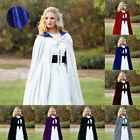 Long Halloween robe Velvet Hooded Cloaks Wedding Capes Wizard Wicca Robe Costume