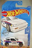 2020 Hot Wheels #123 Honda 5/5 '88 HONDA CR-X White w/Gold Lace Spoke Wheels