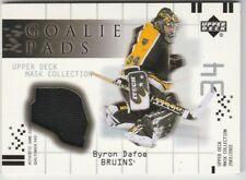 2001-02 UD Mask Collection Goalie Pads #GPBD Byron Dafoe  Boston Bruins
