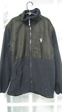 US Polo boys 14/16 lightweight jacket fleece windbreaker Gray Black