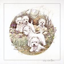 """WEST HIGHLAND WHITE TERRIER WESTIE DOG FINE ART LIMITED EDITION PRINT - """"Autumn"""""""