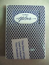 ARISTOCRAT CASINO PLAYING CARDS LV HILTON BLUE DECK USED ON CASINO FLOOR