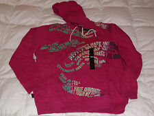 Authentic Sean John Coral Fuchsia red  Zip Hoody Size XXL