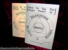 HOW TO TAP MAGIC POWER OF SPELLS, INCANTATIONS & PSALMS Magick Occult, Finbarr.