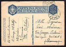 STORIA POSTALE AOI 1936 Cartolina Franchigia da PM 210 a Roma (FILT)