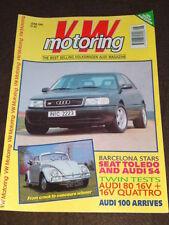 VW MOTORING - AUDI 80 16V TEST - June 1991