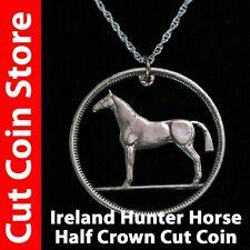Ireland ½ Half Crown Irish Hunter Horse Necklace Cut coin pre-decimal 2s6d