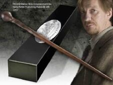 HARRY POTTER WEREWOLF REMUS PROFESSOR LUPIN PROP REPLICA WAND + NAME CLIP STAND
