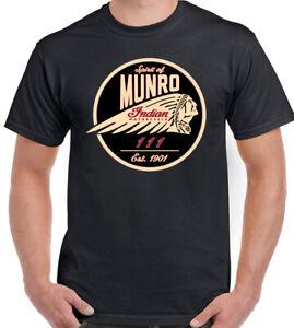 Indian American Motorcycle T-Shirt Spirit of Munro Biker Motorbike Bikie Tee Top