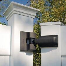 Boerboel Heavy Duty Modern Gate Hinge Pair Black Stainless Steel Adjustable