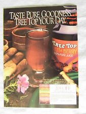 1985 Magazine Advertisement Ad Page Tree Top Fruit n' Berry Juice Old Coupon Ad
