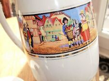 LOVELY OLD LARGE CUSTARD MILK JUG CRIES OF LONDON GIBSONS BOLD COLOUR TRANSFERS
