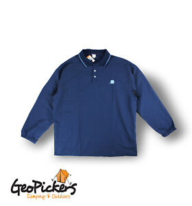 Stingray Adults XL Ultra Lightweight Polo Long Sleeve Navy
