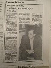 JOURNAL DU DECES D'ALPHONSE DELETTRE - VICTOIRE FIGNON LA PLAGNE - 18/07/1984 -