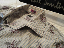 "PAUL SMITH Mens Shirt 🌍 Size 16"" (CHEST 42"")🌎 RRP £95+ 🌏 FANTASTICALLY FLORAL"