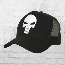 Logoshirt Mesh Trucker Cap Marvel Punisher Logo Stick schwarz Kappe Mütze Haube