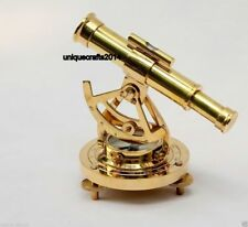 Collectible Solid Brass Alidate Telescope, Compass Marine Survey Xmas Gift.