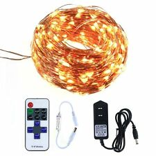 LED String Fairy Lights Waterproof Flexible Warm White Copper Wire Light 20M for