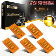 5xYellow 12 LED Cab Marker Roof Running Reflective Lights for Freightliner/Volvo