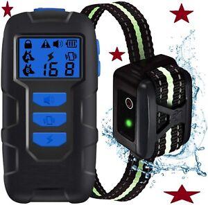 Dog Shock Training Collar w/Remote 8 Levels Vibration & 16 Levels Shock