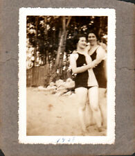 Vintage Photo -girlfriends  embracing at Beach Lesbian/Gay interest- c1930s