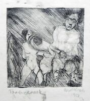 Karl Jacob Hirsch: Couple 1913 / German Expressionism Jewish Etching & Drypoint