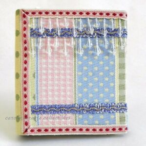 Photo Album Beaded Woven Pastel Patchwork Cover Holds 48 4x6 Pictures NIB
