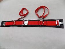 Trampolin - Sicherheitsgürtel -Saltogürtel - 55-100 cm schwarz / rot*