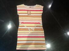 NWT Juicy Couture New Orange & Cream Short Sleeve Cotton Dress Girls Age 10