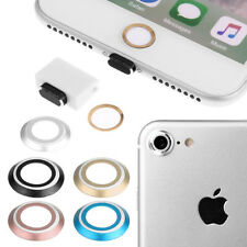 4 In 1 Camera Lens Home Key Protective Dust Plug headphone iPhone 7 GOLD