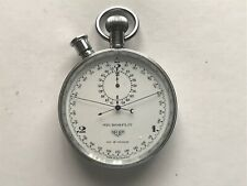 Vintage Heuer Chrome Split Seconds Microsplit Stopwatch