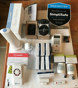 Simplisafe Original Security System Incl Camera, 16 Entry Sensors, Motion, Siren