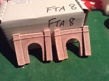 2x tunnels N scale gauge-   Fine Block stone style- PAINTED & Weathered