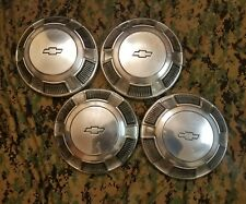 4 CHEVROLET DOG DISH HUB CAPS BOWTIE 1968 1969 1970 1971 1972 1973 OEM GM