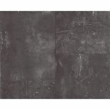 NEW AS CREATION METAL PANEL SCRATCHED IRON FAUX EFFECT MURAL WALLPAPER 962231