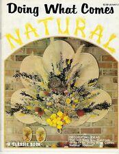 Haciendo Qué Llega Natural Vintage Floral País Craft Pared Decorativa Libro