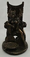 More details for superb large bronze queen on throne fantasy/magic statue/sculpture/ornament