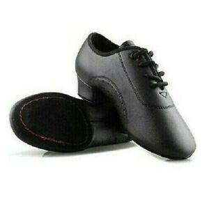 Men Black Low Heels Ballroom Dancing Shoes Tango Salsa Rumba Modern Latino Shoes
