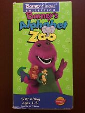 """""""BARNEY'S ALPHABET ZOO""""SING ALONG AGES 1-8.FROM THE HIT TV..VHS.2001.30 MINUTES."""