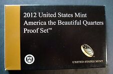 2012-S AMERICA THE BEAUTIFUL QUARTERS PROOF SET ULTRA CAMEO WITH BOX & COA  A-12