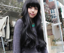 Fashionable Women Sexy Cosplay Natural Long Wavy Curly Wigs With Bang Party Wig